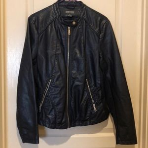 Kenneth Cole Reaction faux leather jacket.